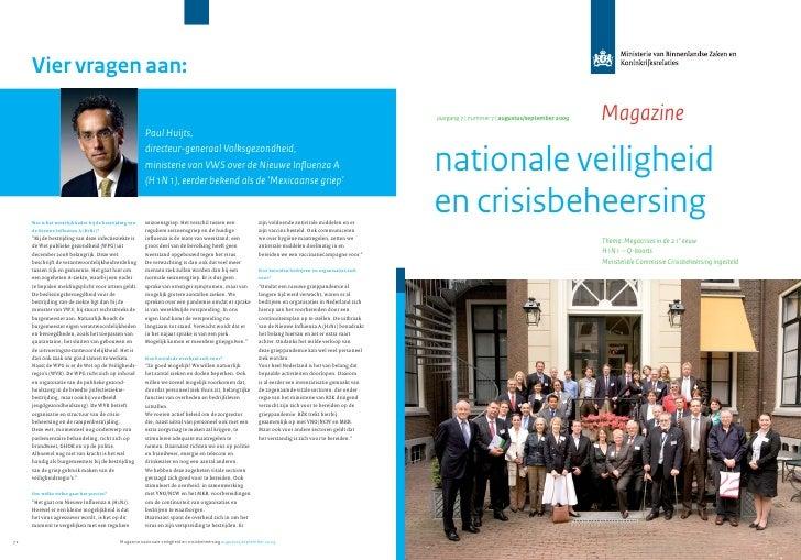 jaargang 7   nummer 7   augustus/september 2009   Magazine  nationale veiligheid en crisisbeheersing                      ...