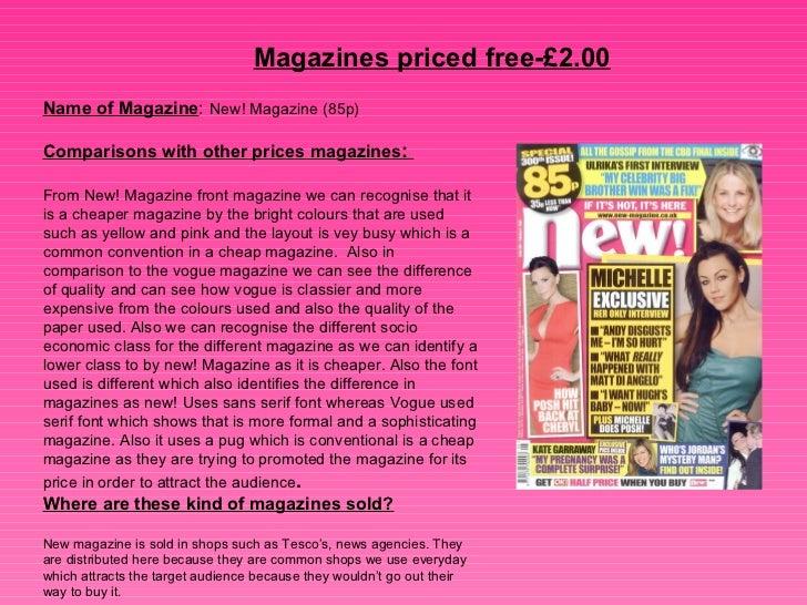 Magazine prices Slide 2