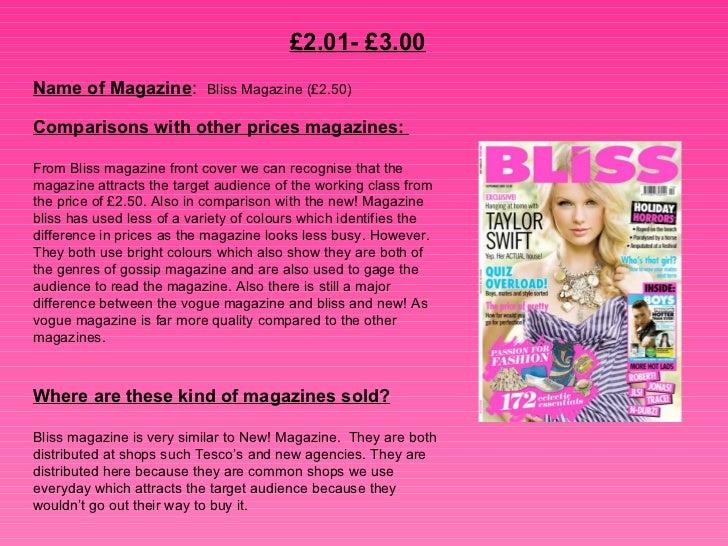 Magazine prices Slide 3