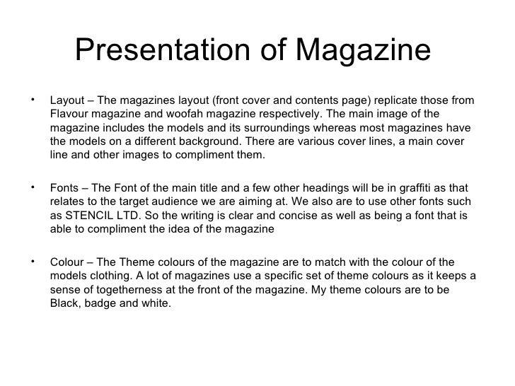 Magazine sponsorship proposal