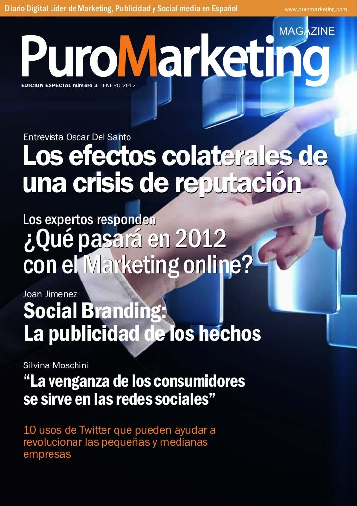 Diario Digital Líder de Marketing, Publicidad y Social media en Español   www.puromarketing.com                           ...