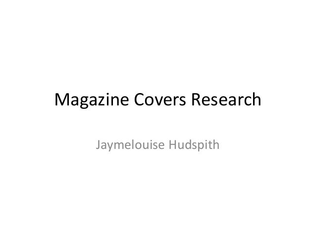 Magazine Covers Research Jaymelouise Hudspith