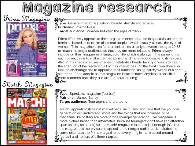 Magazine Research And Planning
