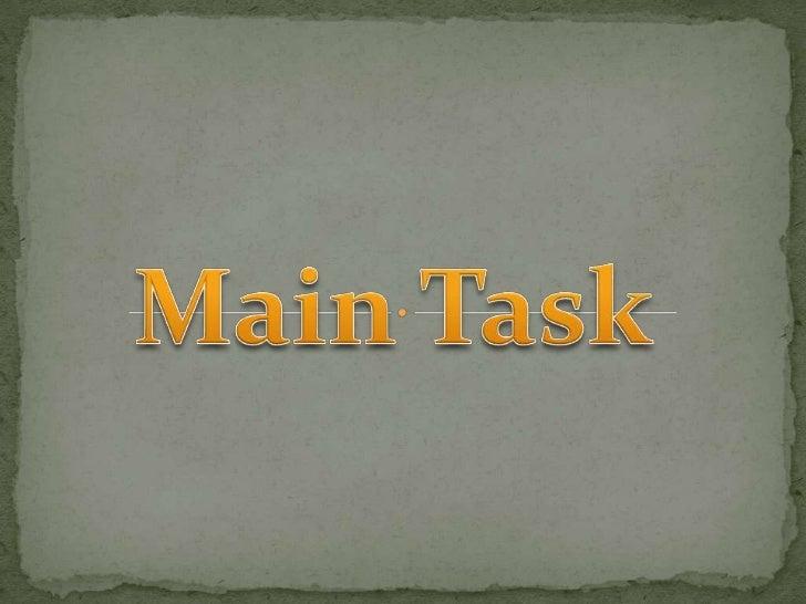 Main Task<br />