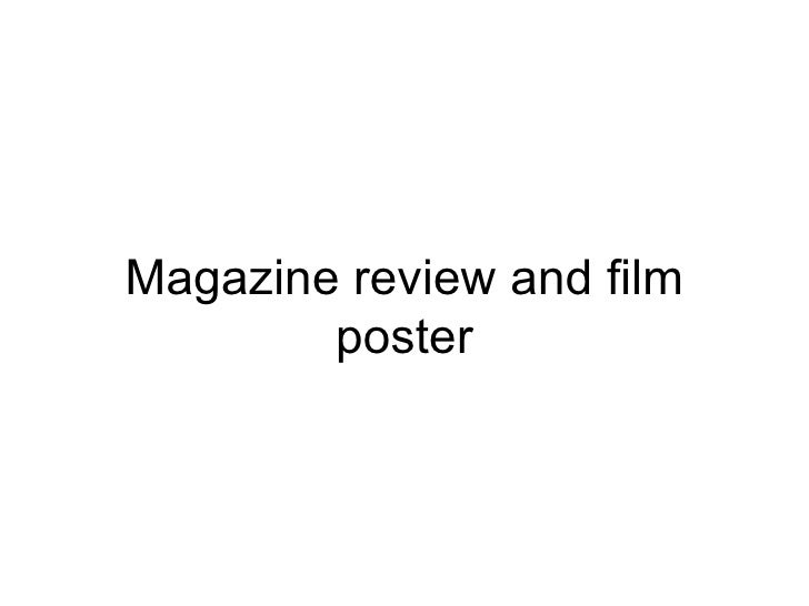 Magazine review and film        poster