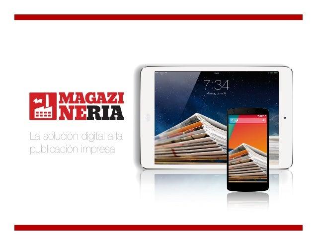 La solución digital a la publicación impresa