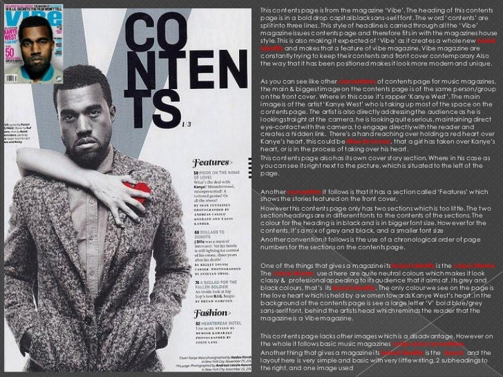 Contents Page Of A Magazine Analysis Essay - image 2