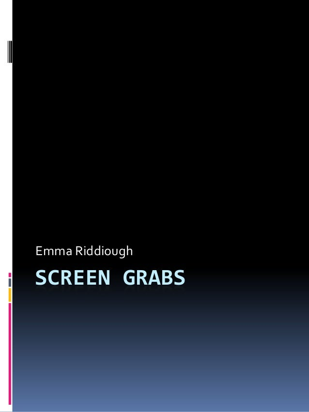 Emma RiddioughSCREEN GRABS