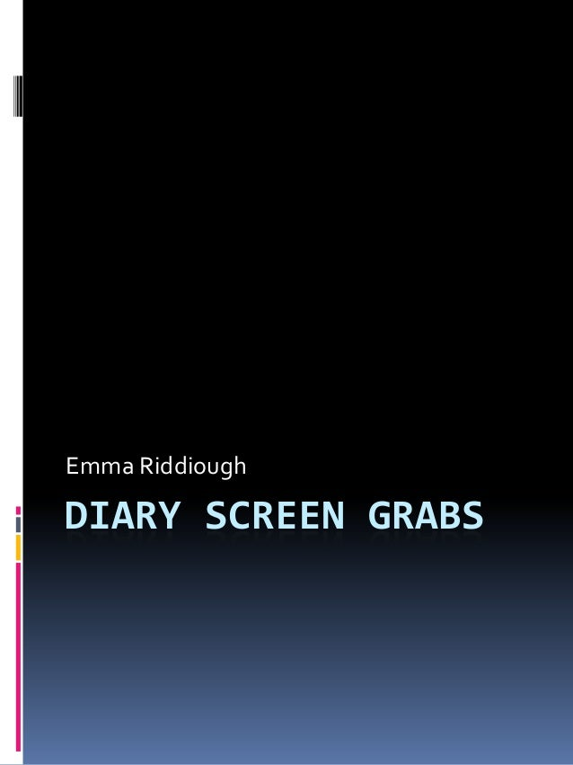 Emma RiddioughDIARY SCREEN GRABS