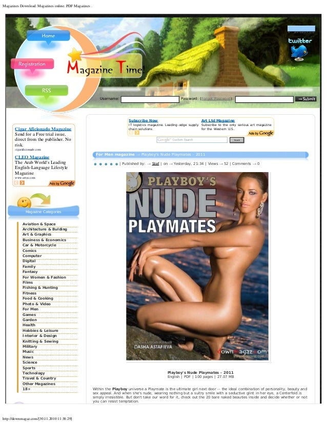Pdf playboy magazine japan