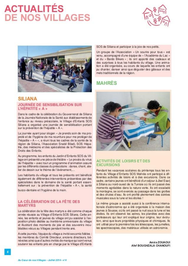 6 SILIANA JOURNÉE DE SENSIBILISATION SUR L'HÉPATITE « A » Dans le cadre de la célébration du Gouvernorat de Siliana de la ...