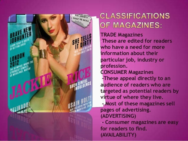 Organization Structure of the Magazine Industry Slide 3