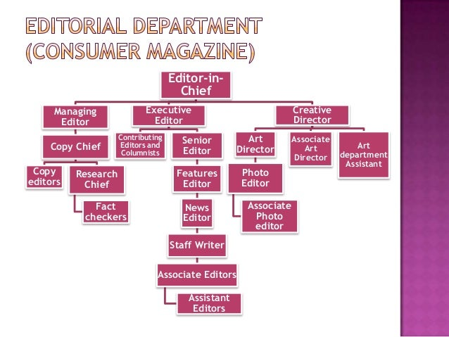 Organization Structure Of The Magazine Industry