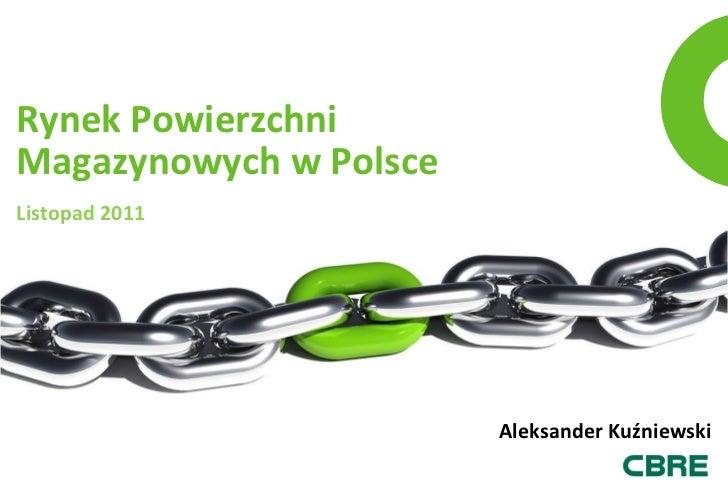Rynek PowierzchniMagazynowych w PolsceListopad 2011                        Aleksander Kuźniewski