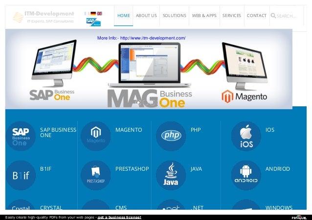 MAGB1, e-Commerce Magento - Itm development