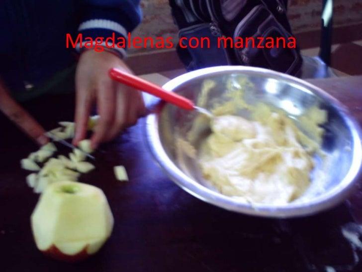 Magdalenas con manzana<br />