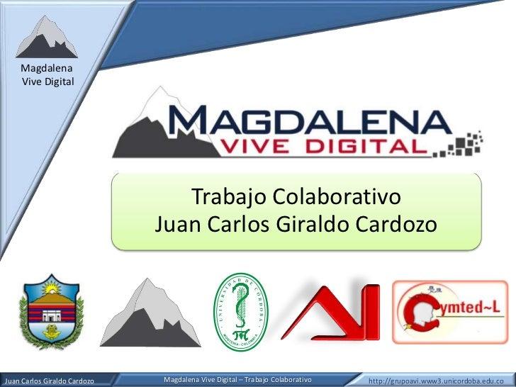 Magdalena    Vive Digital                                 Trabajo Colaborativo                              Juan Carlos Gi...