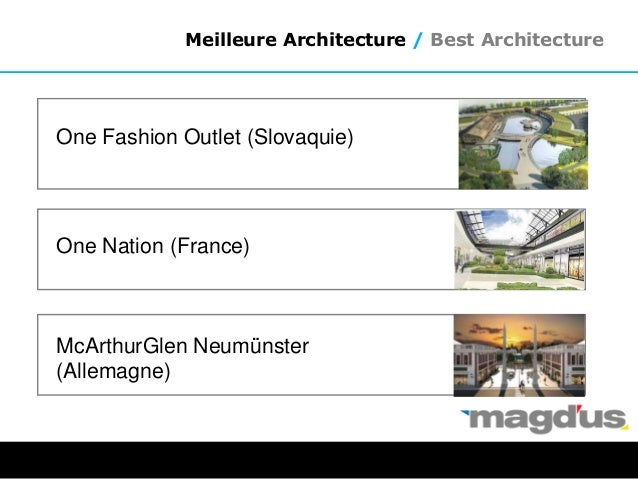 Meilleure Architecture / Best Architecture One Nation (France) One Fashion Outlet (Slovaquie) McArthurGlen Neumünster (All...