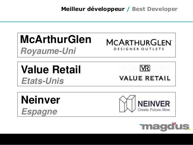 Value Retail Etats-Unis Neinver Espagne Meilleur développeur / Best Developer McArthurGlen Royaume-Uni