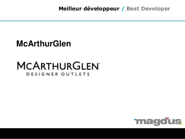 McArthurGlen Meilleur développeur / Best Developer