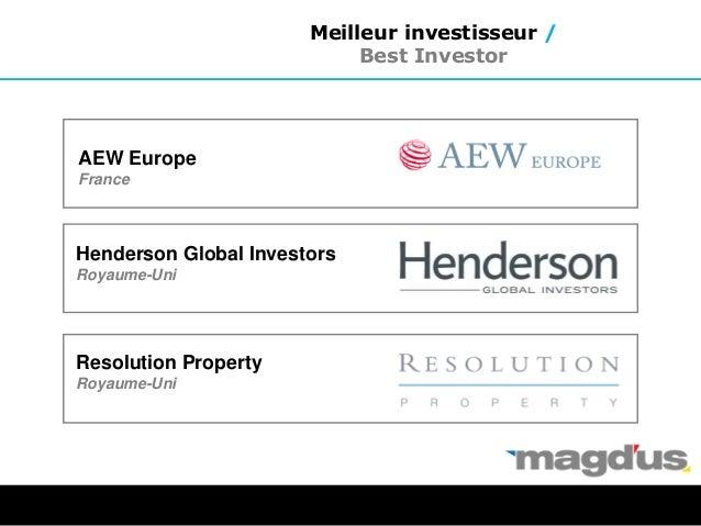 AEW Europe France Henderson Global Investors Royaume-Uni Resolution Property Royaume-Uni Meilleur investisseur / Best Inve...