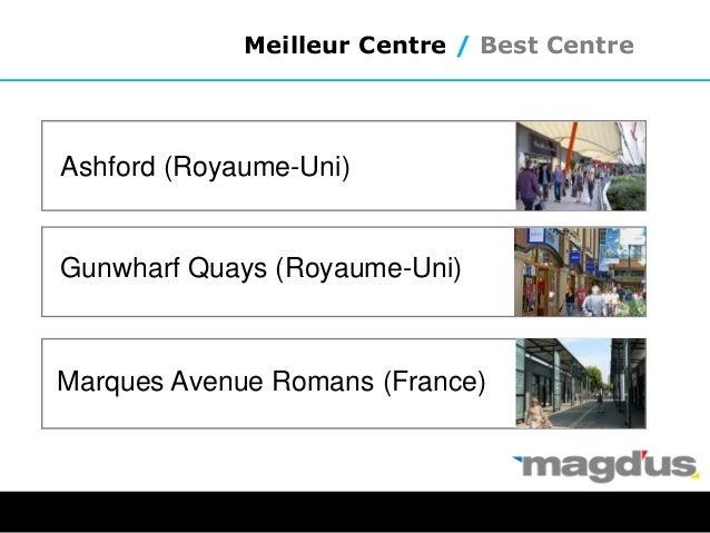 Meilleur Centre / Best Centre Ashford (Royaume-Uni) Gunwharf Quays (Royaume-Uni) Marques Avenue Romans (France)
