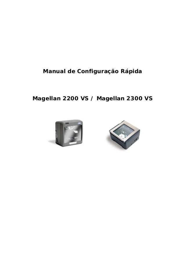 Manual de Configuração Rápida Magellan 2200 VS / Magellan 2300 VS