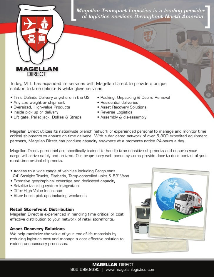 Magellan Transport Logistics is a leading provider                                       of logistics services throughout ...