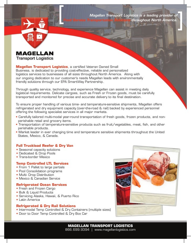 Magellan Transport Logistics is a leading provider of                                   Food Service Transportation Soluti...