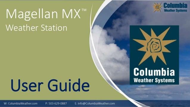 TM Magellan MX Weather Station User Guide