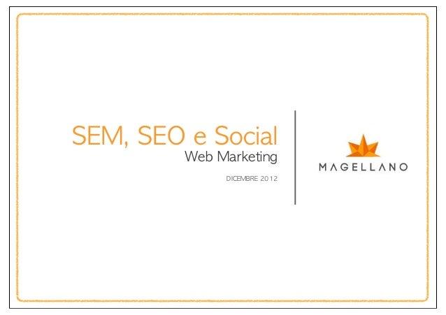 SEM, SEO e Social          Web Marketing                DICEMBRE 2012