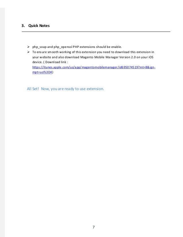 MageMob Admin Extension - User Guide