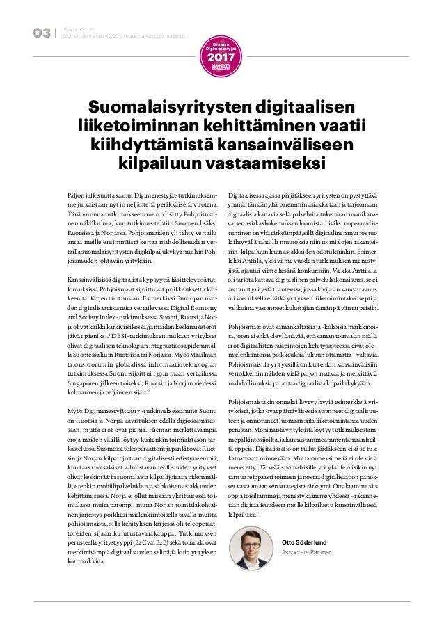 Magenta Advisory Suomen Digimenestyjät 2017 Slide 3