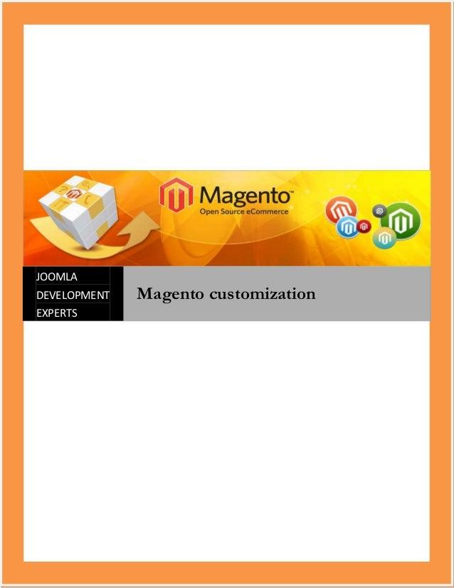 JOOMLADEVELOPMENT   Magento customizationEXPERTS