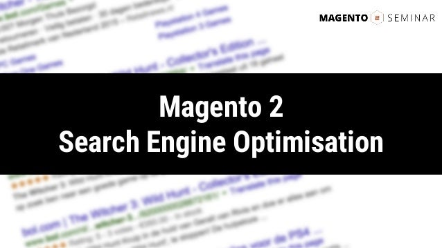 Magento 2 Search Engine Optimisation