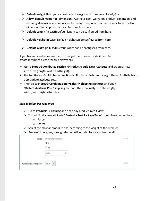 australia post parcel rates pdf