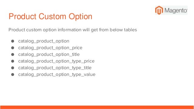 Magento 2 Database Tables, Schema, Main tables for main features of M…