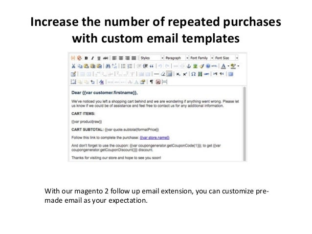 Magento  Follow Up Email