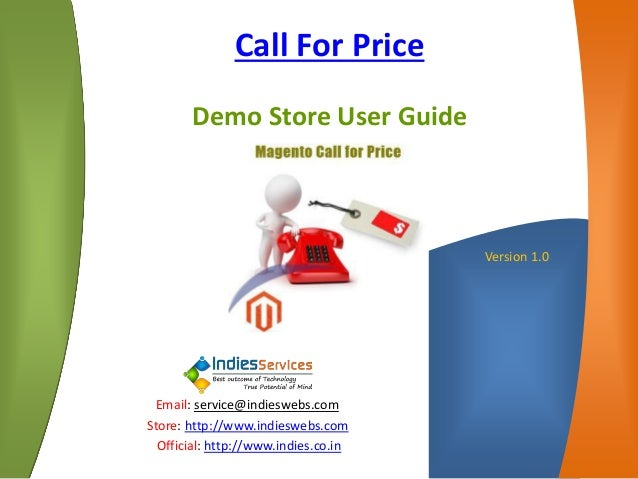 Magento Call For Price - Demo User Guide