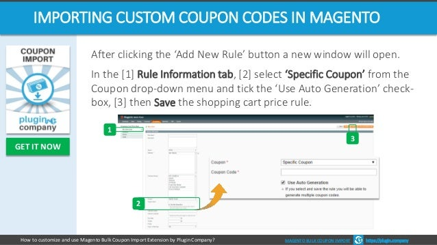 magento coupon import extension