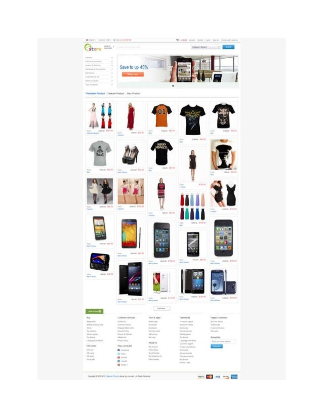 Magento ebay store theme mage club