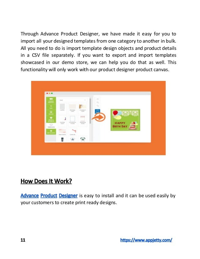 Magento html5 online product designer for Magento csv import template