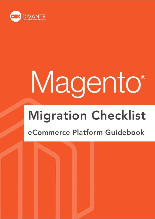 Migration Checklist eCommerce Platform Guidebook