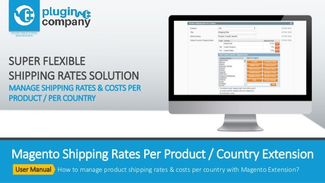 Magento Product Shipping Rates per Country - User Manual