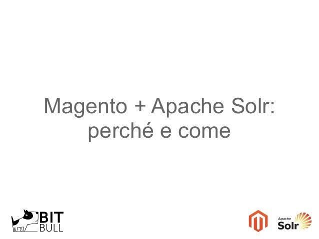 Magento + Apache Solr: perché e come