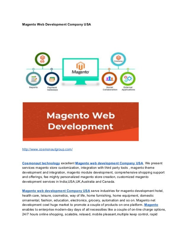 Magento Web Development Company USA http://www.cosmonautgroup.com/ Cosmonaut technology​ excellent ​Magento web developmen...
