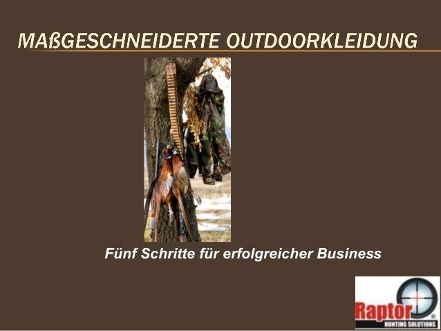 Fünf Schritte für erfolgreicher Business