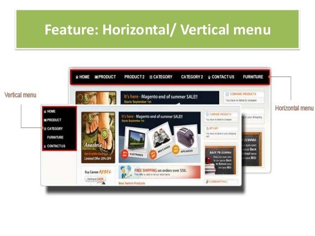 Feature: Horizontal/ Vertical menu