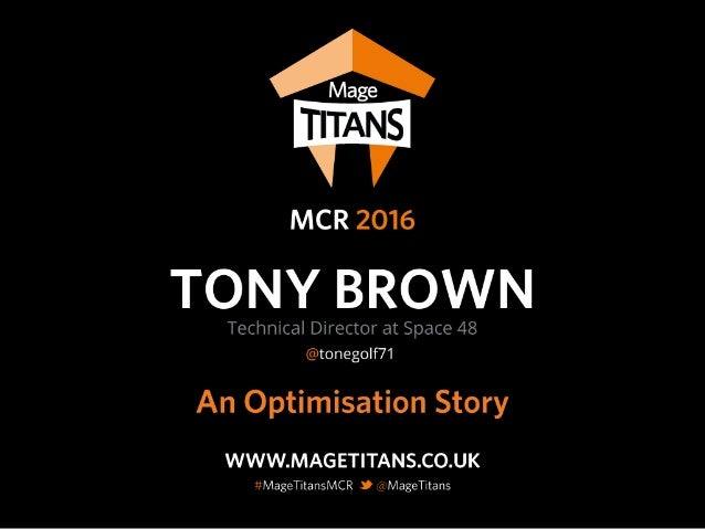 @Tonegolf71 @Space48ers #MageTitansMCR Worked on Magento since 1.2 Technical Director @ Space 48 Love learning and collabo...