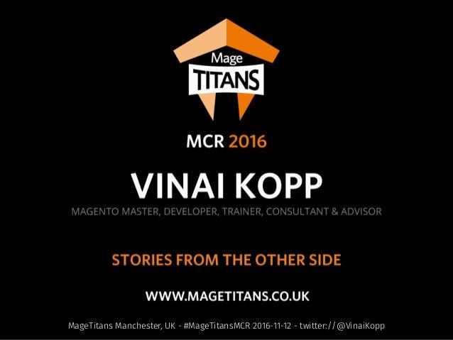 MageTitans Manchester, UK - #MageTitansMCR 2016-11-12 - twitter://@VinaiKopp